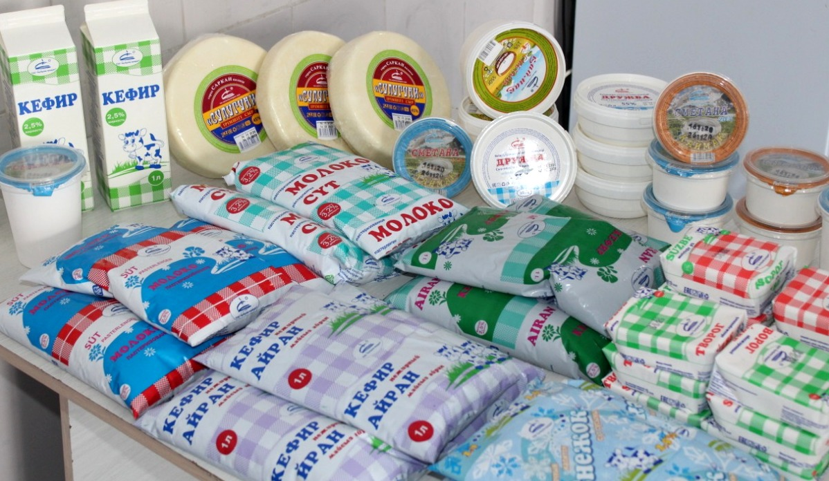 The dairy plant in the Sarkand district produces more than 15 types of products