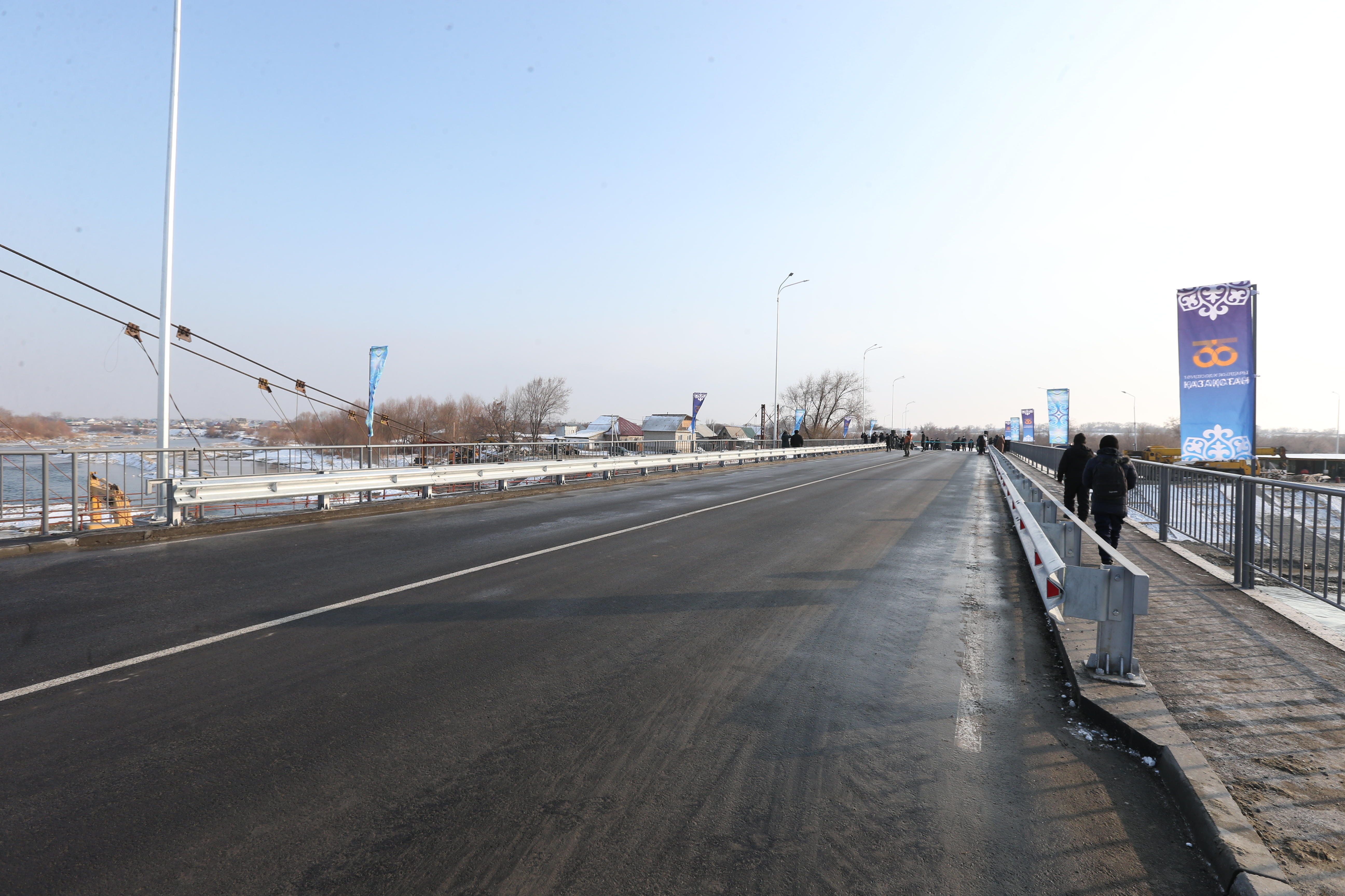 Two automobile bridges connecting the city and country house were put into operation in Taldykorgan