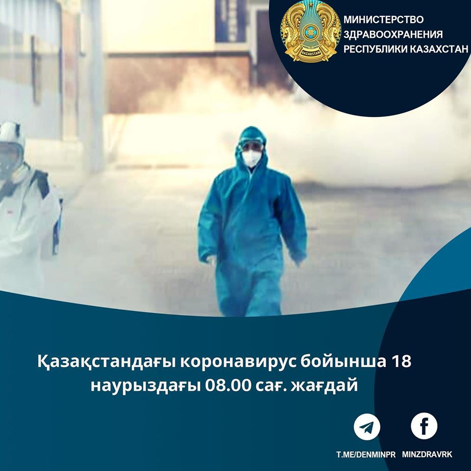 About the epidemiological situation of COVID-19 at 08 AM on March 18, 2020 in Kazakhstan