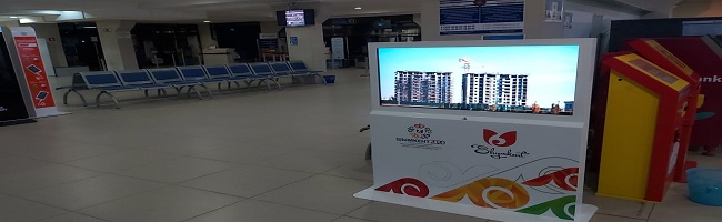 Installation of tourist navigation panels in the city of Shymkent