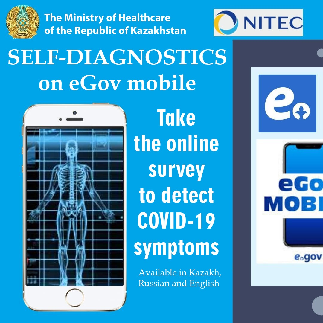 Kazakhstan has launched an online self-diagnosis service on COVID-19 in three languages