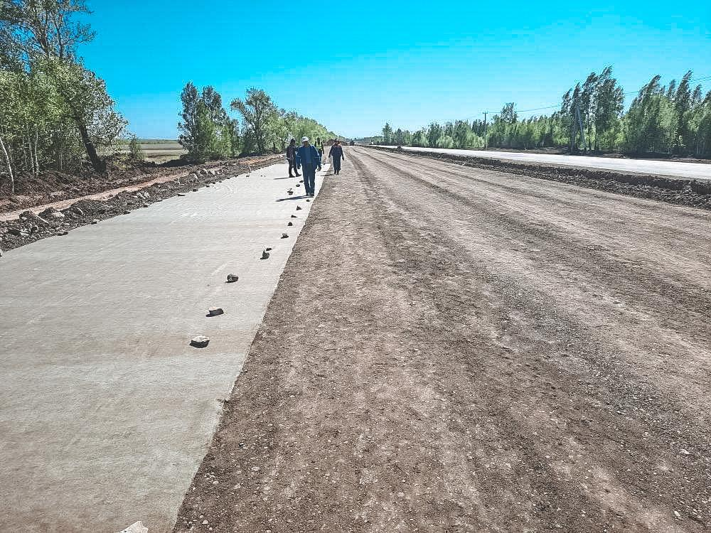 The reconstruction of the four-lane section of the Nur-Sultan-Petropavlovsk highway will be completed in autumn 2020
