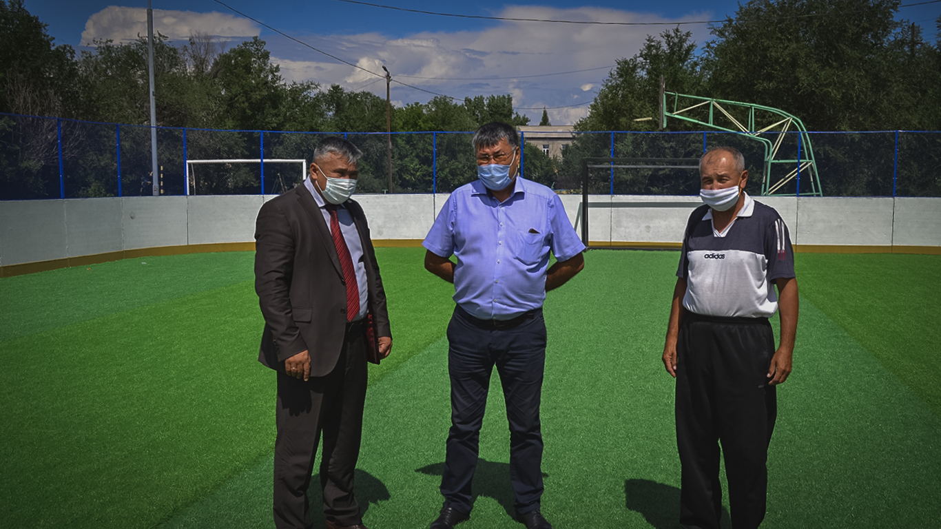 A hockey court was opened in Shar